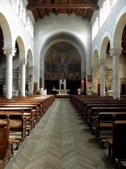 Eglise Notre-Dame - Intérieur de l'église Notre-Dame de Clisson (44). Nef principale.