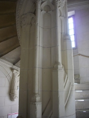 Hôtel Brachet, dit aussi hôtel de la Vieille Intendance - Hôtel de la Vieille Intendance, tribunal administratif d'Orléans (Loiret, France): escalier Renaissance
