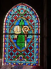 Chapelle Saint-Blaise - Français:   Vitrail dans la chapelle Saint-Blaise située dans le sanctuaire de Rocamadour (Lot)
