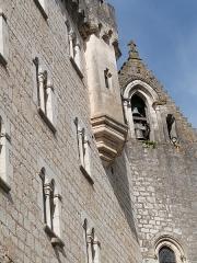 Chapelle Saint-Blaise - Français:   Clocher du sanctuaire abrité par la chapelle Saint-Blaise et visible sur la façade sud  (Rocamadour, Lot)