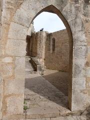 Parvis et escaliers de la cité religieuse - Français:   L\'un des accès au chemin de ronde du sanctuaire de Rocamadour (Lot, France)
