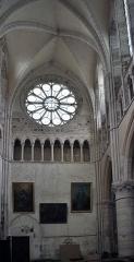 Bâtiment de l'ancien tribunal du bailliage - Transept Nord de l'église Saint-Pierre-et-Saint-Paul à Orbais l'Abbaye.