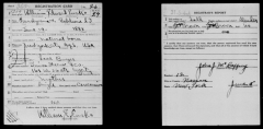 Cimetière américain - English: Sergeant William Edward Ensko (1888-1918) in the WWI draft registration
