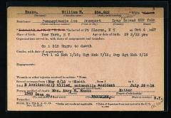 Cimetière américain - English: William Edward Ensko (1889-1918) military service record for New York