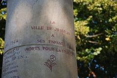 Promenade dite Le Mail - Français:   Monument aux morts 14-18 - Inscription