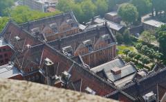 Hôtel de ville - Deutsch: Blick vom Belfried des Rathauses auf das Rathaus, Lille, Département Nord, Region Ober-Frankreich (ehemals Nord-Pas-de-Calais), Frankreich
