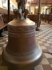 Temple protestant - Français:   Nouvelle cloche du temple protestant de Lille fondue en 2017, à l\'occasion du 500ème anniversaire de la Réforme protestante.