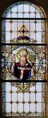 Eglise catholique Saint-Jean-Baptiste - Alsace, Bas-Rhin, Église Saint-Jean-Baptiste de Saessolsheim (PA67000005, IA67009190).   Verrière