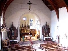 Eglise catholique Saint-Maurice -  Alsace, Bas-Rhin, Soultz-les-Bains, Église Saint-Maurice (PA67000007, IA67006055): Vue intérieure de la nef vers le chœur.