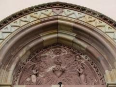 Ancien couvent d'Augustines Notre-Dame - Français:   Alsace, Bas-Rhin, Chapelle Notre-Dame de Molsheim (1867), chapelle de l\'ancien couvent d\'Augustines Notre-Dame (PA67000056, IA67006100).