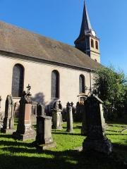 Eglise Notre-Dame de l'Assomption -  Alsace, Bas-Rhin, Villé, Cimetière de l'Église Notre-Dame-de-l'Assomption dit «Cimetière bourgeois», rue René-Kuder (PA00135154, IA67010341).