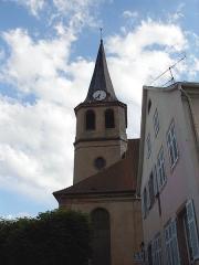 Eglise Notre-Dame de l'Assomption - Français:   La tour d\'église Notre-Dame-de-l\'Assomptionà Villé