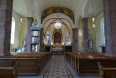 Eglise Notre-Dame de l'Assomption -  Alsace, Bas-Rhin, Villé, Église Notre-Dame-de-l'Assomption (IA67010340): Vue intérieure de la nef vers le chœur.