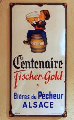 Brasserie Fischer - Deutsch: Emaillewerbeschild der Brauerei Fischer