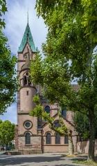 Ensemble paroissial Saint-Joseph de Koenigshoffen - English: The south face of the Église Saint-Joseph church in Strasbourg.