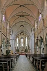 Eglise catholique Saint-Etienne - Deutsch: Église Saint-Éttienne de Cernay. Das Kirchengebäude ist ein historisches Denkmal         der französischen Stadt Cernay (Haut-Rhin).