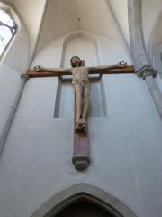 Eglise catholique Saint-Etienne - Français:   Intérieur de l\'église Saint-Étienne, Cernay (Haut-Rhin). Christ en croix de 5 m.