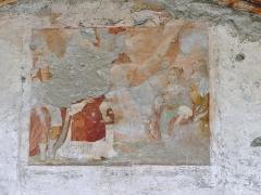 Eglise, chapelles et oratoires - English: Sight of the painting outside Saint-Étienne chapel of Bessans, in Savoie, France.