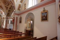 Eglise, cimetière, ancienne mairie, chapelles, croix et oratoire -  Intérieur de l'église Saint-Saturnin de Saint-Sorlin-d'Arves / Saint-Sorlin-d'Arves / Savoie / France