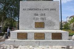 Monument aux morts - Français:   Monument aux morts d\'Annecy.