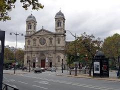 Église Saint-François-Xavier - English: Paris (7th Arr.): Église Saint François Xavier, view due east; October 2013