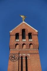 Eglise Saint-Michel dite des Batignolles -  Tower @ Église Saint-Michel des Batignolles @ Paris   Église Saint-Michel des Batignolles, 3 Place Saint-Jean, 75017 Paris, France.