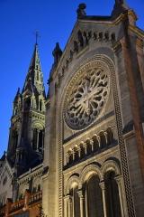 Église Notre-Dame-de-la-Croix -  le soir, Paris