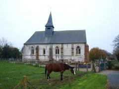 Eglise Saint-Aubin de Boëncourt - Français:   Boëncourt , hameau de la commune de Béhen (Somme, France)