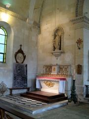 Eglise Saint-Agnan -  Grivesnes (Somme, France) -  L'église. L'autel latéral gauche.   .