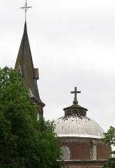 Eglise Saint-Agnan -  Grivesnes (Somme, France) -  L'église.   .