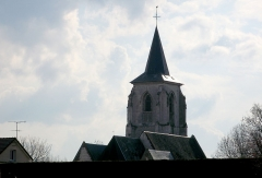 Eglise Saint-Martin -  Franleu (Somme, France) -   Le clocher.