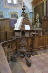 Église Saint-Corneille - English: Puycelsi. Church of Saint-Corneille. Lectern (XVIIth century).
