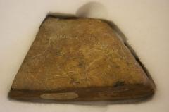 Site archéologique des quatre abris sous roche du château de Bruniquel - English: Rock carving from the British Museum's collection at Franks House.  Part of the GLAM project to Franks House in 2011.