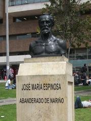 Hôtel Leclerc de Fourolles - Español: Busto de José María Espinosa en la U de Los Andes.