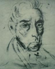 Hôtel Leclerc de Fourolles - English: One of the last portraits of Simón Bolívar, José María Espinosa, 1830. Original is 28x20 cm.
