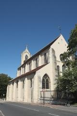 Église Saint-Vincent-Saint-Germain - Deutsch: Katholische Pfarrkirche Saint-Vincent-Saint-Germain in Saint-Germain-lès-Corbeil im Département Essonne (Region Île-de-France/Frankreich), Südseite
