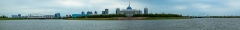 Maison et atelier du sculpteur Joseph Bernard - English: A panorama on the Ak Orda palace in Nur-Sultan, and the Ishim river; shot in July 2017. Pictured from left to righ aret: The Nazarbayev Centre (library), the Tsesnabank Building, the Kazakhstan Central Concert Hall, and the Ak Orda  presidential palace.