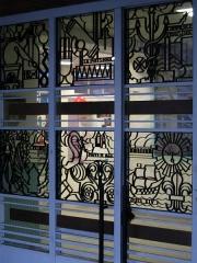 Groupe scolaire Jules-Ferry -   Groupe scolaire Jules Ferry - Maisons-Alfort - France 1932 -  Grille de l\'entrée par Poillerat