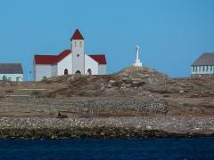 Eglise Notre-Dame-des-Marins, située sur l'Ile-aux-Marins - English: Ile aux marins- Saint Pierre et Miquelon France