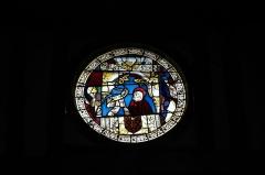 Eglise - Deutsch: Katholische Kirche Saint-Jacques-et-Saint-Philippe in Lentilles im Département Aube (Champagne-Ardenne/Frankreich), Bleiglasfenster aus dem 16. Jahrhundert im Chor, Darstellung: Apostel Petrus