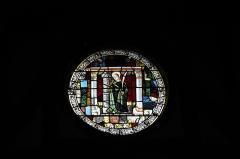 Eglise - Deutsch: Katholische Kirche Saint-Jacques-et-Saint-Philippe in Lentilles im Département Aube (Champagne-Ardenne/Frankreich), Bleiglasfenster aus dem 16. Jahrhundert im Chor, Darstellung: Hl. Barbara