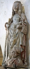 Eglise - Français:   Église Saint-Martin de Moussey statue de Catherine exécutée par la maïtre de Mailly?