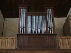 Eglise - Français:   Moussey (Aube, France), église Saint-Martin, orgue à cylindre de Nicolas-Antoine Lété de 1842.