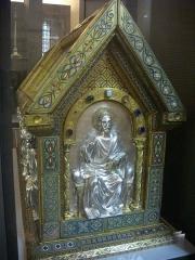 Cathédrale Saint-Pierre Saint-Paul - Trésor de la cathédrale Saint-Pierre-et-Saint-Paul de Troyes (Aube, France): reliquaire des saints Bernard et Malachie