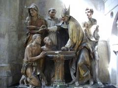 Cathédrale Saint-Pierre Saint-Paul - Cathédrale Saint-Pierre-et-Saint Paul de Troyes (Aube, France):  Baptême de saint Augustin par saint Ambroise