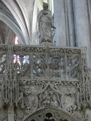Eglise de la Madeleine et ancien cimetière - Jubé de l'église de la Madeleine de Troyes (Aube, France): face occidentale