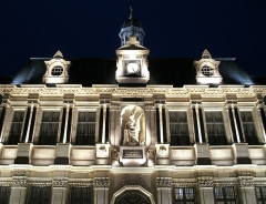 Hôtel de ville - English: Troyes town hall at night.