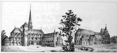 Préfecture de l'Aube (Hôtel de Département) - Français:   sur une vue ancienne.