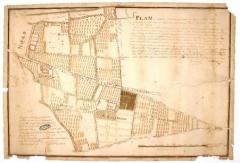 Préfecture de l'Aube (Hôtel de Département) - Français:   Plan de l'abbaye Notre-Dame-aux-Nonnains, Troyes, 1778 - Arch. dép. Aube, 22 H 252