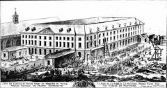 Préfecture de l'Aube (Hôtel de Département) - Français:   Vue de l'Abbaye Notre-Dame-aux-Nonnains, Troyes, le jour de la pose de la première pierre par Madame de Montmorin, le 30 avril 1778